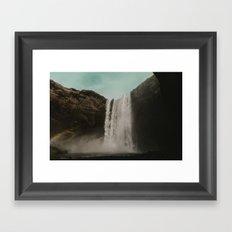 Iceland Waterfall x Skógafoss Framed Art Print