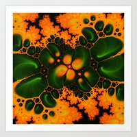 fractal Art Prints featuring Fractal  by Karl-Heinz Lüpke