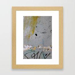 Cracked Paint 17 - Huddersfield Framed Art Print