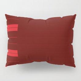 Red Piano Keys Pillow Sham