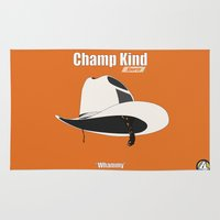 anchorman Area & Throw Rugs featuring Champ Kind: Sports by BC Arts