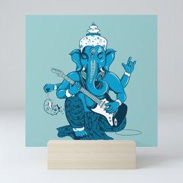 Ganesha rocks ! (v3) Mini Art Print