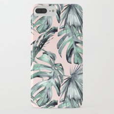 Island Love Coral Pink + Green iPhone 7 Plus Slim Case