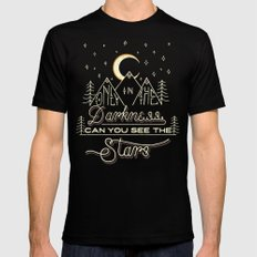Only in the Darkness SMALL Black Mens Fitted Tee