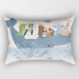 a whale of a time Rectangular Pillow