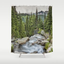 Top of Myrtle Falls Shower Curtain
