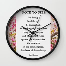 note to self. Wall Clock