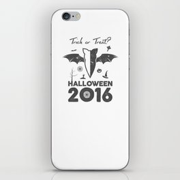 Halloween party label iPhone Skin