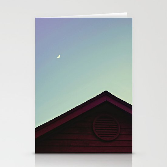 The Moon and The Red House Stationery Cards