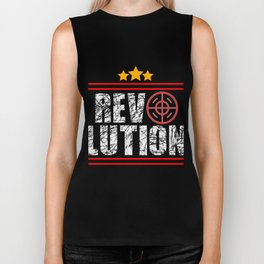 This is the awesome revolutionary Tshirt Those who make peaceful revolution Revolution Biker Tank