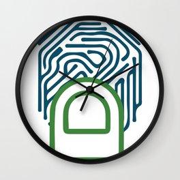 Finger Print Wall Clock