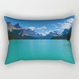 """Hall of Gods"" Maligne Lake in Jasper National Park, Canada Rectangular Pillow"