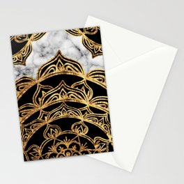 Gold Lace on Marble Stationery Cards