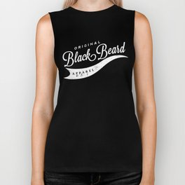 Original BlackBeard White Font Biker Tank