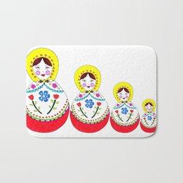 Babushka Doll  Bath Mat