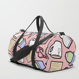 Book Club in Pink Duffle Bag
