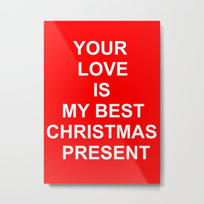 Christmas Red Metal Print