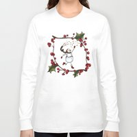 snowman Long Sleeve T-shirts featuring Snowman by MadTee