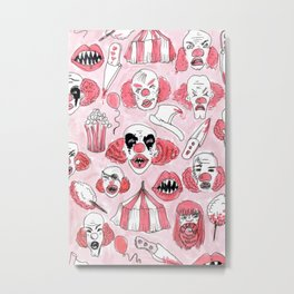 halloween clown pattern Metal Print