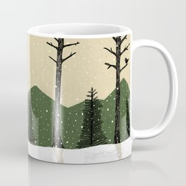 Badger in the Snow Coffee Mug