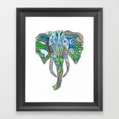 Tatoo Elephant Framed Art Print