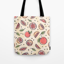 Red Grapefruit for Breakfast Tote Bag