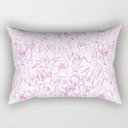 Gardenia Fleurs Rectangular Pillow