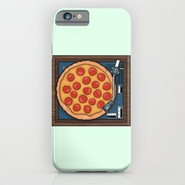 Pizza Record Player iPhone Case
