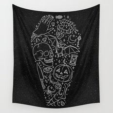 Halloween Horrors Wall Tapestry