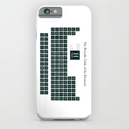 Periodic Table of Elements - Forest Green iPhone Case
