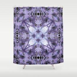 Inverse Fern Reflection Shower Curtain