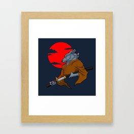 Wolf Samurai Framed Art Print