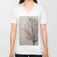 rain V-neck T-shirts featuring Rain  by Laura Ruth