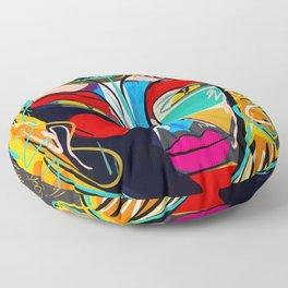 Looking for the third eye street art graffiti Floor Pillow