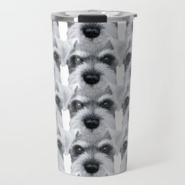 Schnauzer pattern-Grey Dog illustration original painting print Travel Mug