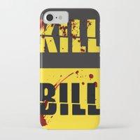 kill bill iPhone & iPod Cases featuring Kill Bill by Melis Kalpakçıoğlu