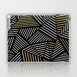 A Linear Black Gold Laptop & iPad Skin