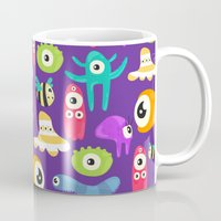 monsters Mugs featuring monsters by Ceren Aksu Dikenci