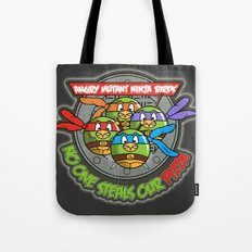 Angry Mutant Ninja Birds Tote Bag