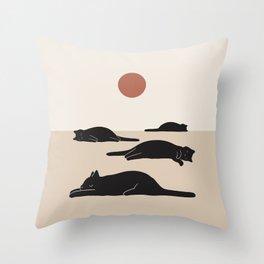 Cat Landscape 69 Throw Pillow
