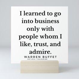 37    Warren Buffett Quotes   190823 Mini Art Print
