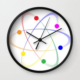 LGBT Whirling Atoms Wall Clock