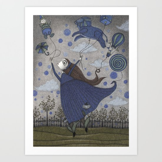 Violetta Dreaming Art Print