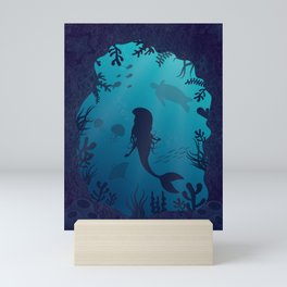 Mermaid Underwater Cave Mini Art Print
