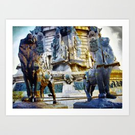 uneven cataract eviction ovens Art Print