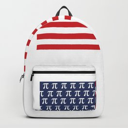 Usa American Flag Pi Day Math Funny Gifts Backpack