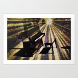Piano rays Art Print