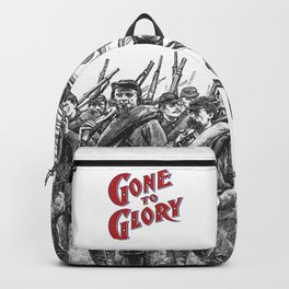 Gone To Glory / Vintage typography redrawn and repurposed Backpack