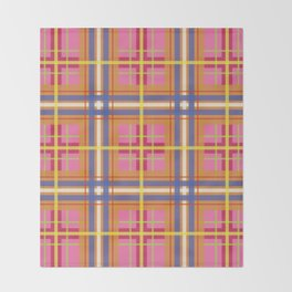 Perfect Pink Plaid Throw Blanket