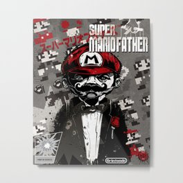 Super Mario Father Metal Print